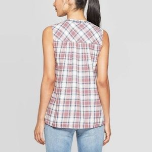 Knox Rose Tops - NWT Knox Rose Tie Front Sleeveless Blouse Top